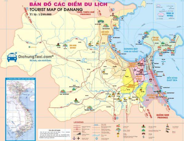 Bản đồ du lịch Đà Nẵng – Tìm hiểu về các địa điểm nổi tiếng nên đến