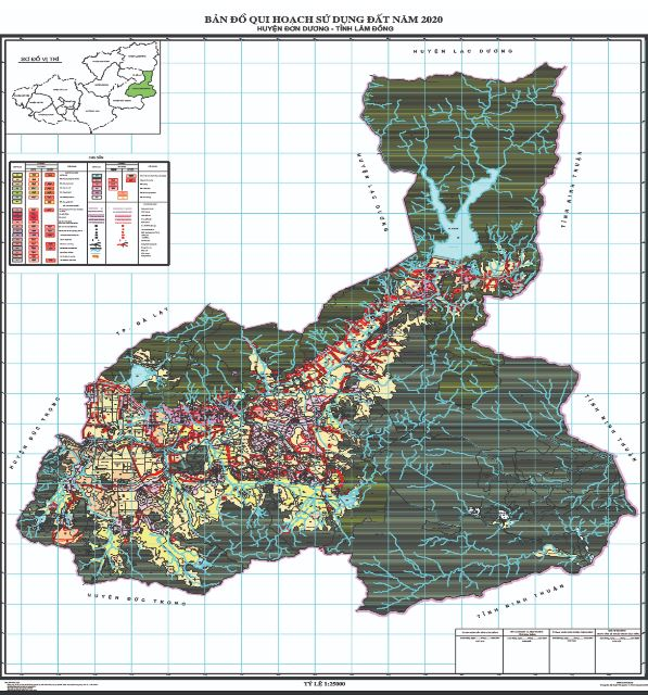 Bản đồ quy hoạch sử dụng đất huyện Đơn Phương tỉnh Lâm Đồng đến năm 2020