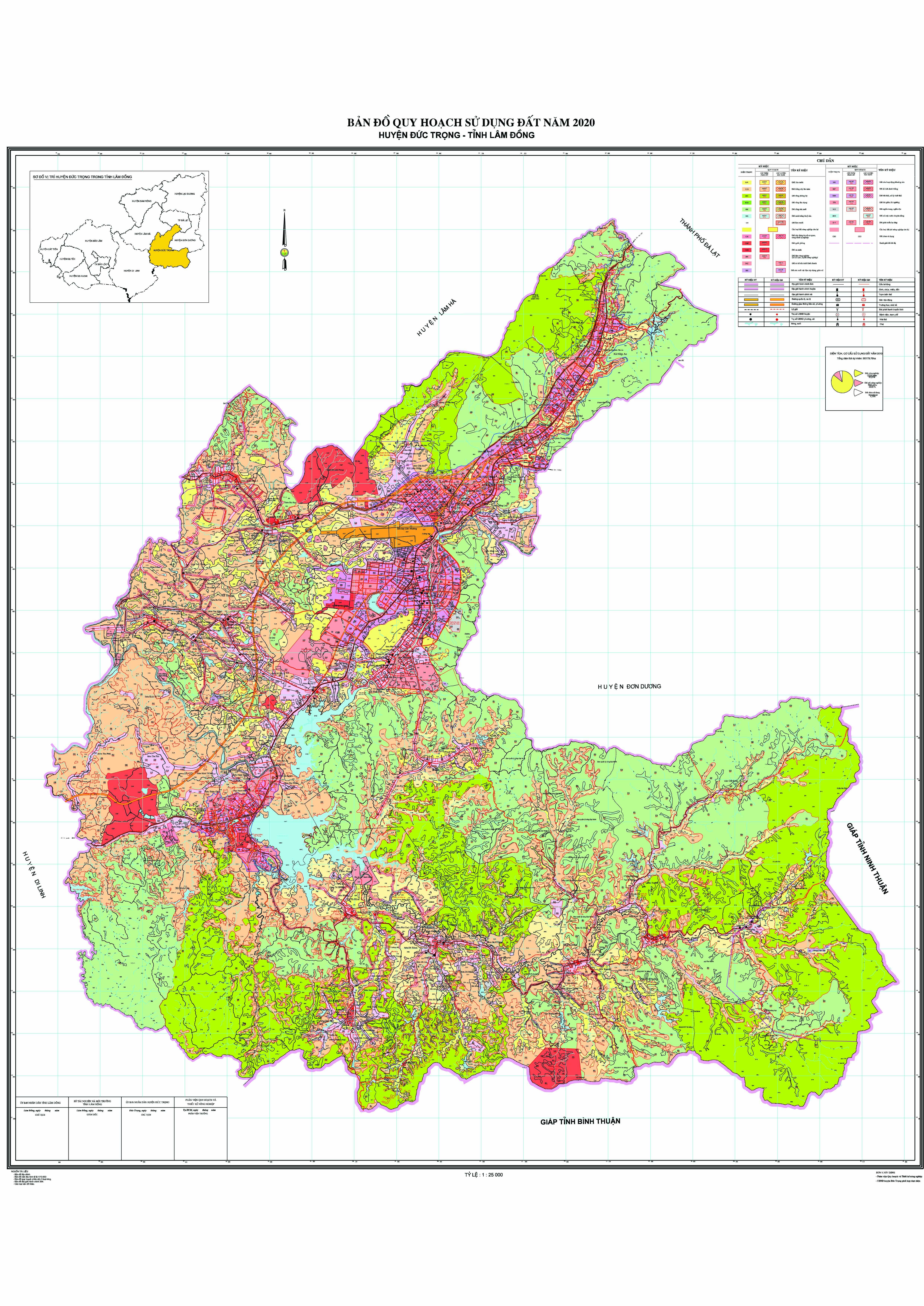 Bản đồ quy hoạch sử dụng đất huyện Đức Trọng tỉnh Lâm Đồng