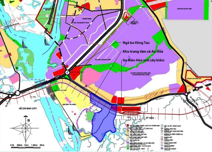 Bản đồ quy hoạch chi tiết thành phố Biên Hòa tỉnh Đông Nai