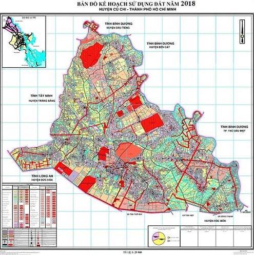 Bản đồ quy hoạch huyện Củ Chi thành phố Hồ Chí Minh đến năm 2020