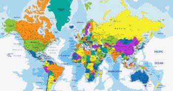 Bản đồ các châu lục trên thể giới