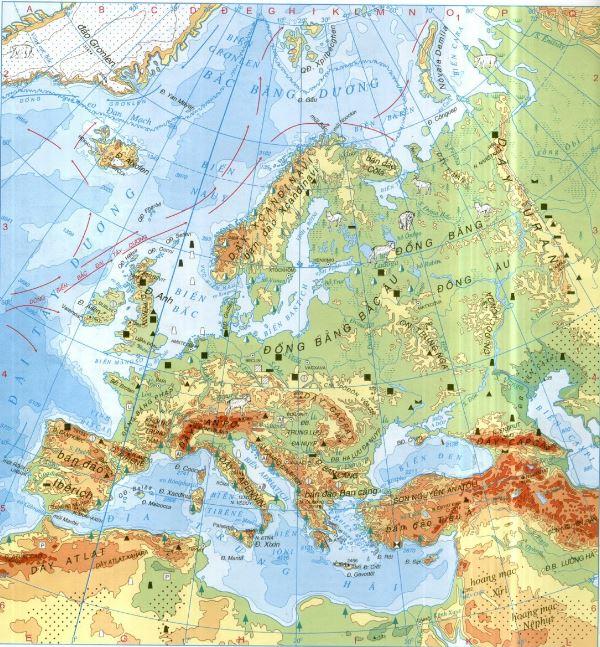 Bản đồ thế giới- bản đồ châu Âu chi tiết