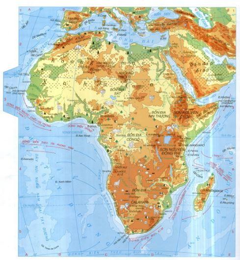 Bản đồ châu Phi qua bản đồ thế giớiBản đồ châu Phi qua bản đồ thế giới