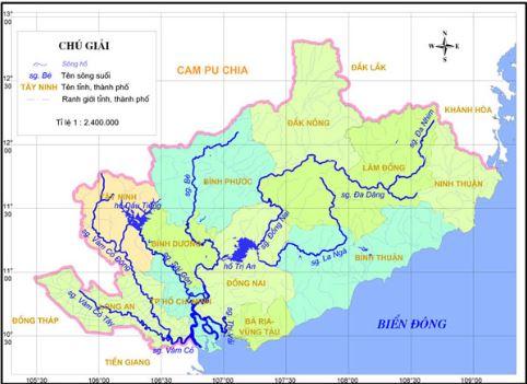 Bản đồ sông ngòi Việt Nam - Bản đồ hệ thống sông ngòi Việt Nam 1