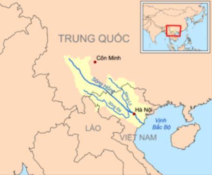 Bản đồ hệ thống sông Hồng
