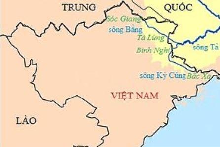 Bản đồ hệ thống sông Kỳ Cùng - Bằng Giang