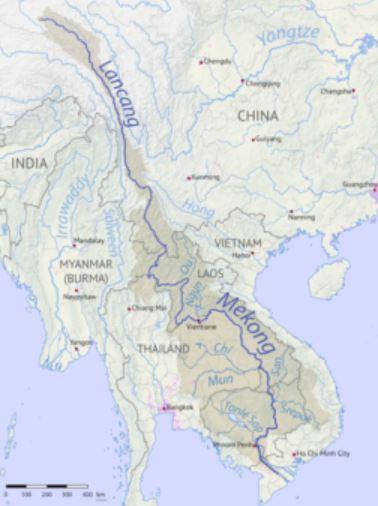 Bản đồ hệ thống sông Mê Kông