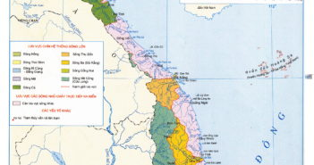 Bản đồ các hệ thống sông ngòi ở Việt Nam
