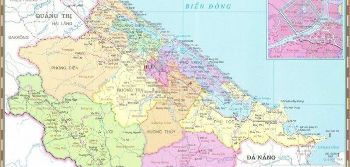 Bản đồ hành chính tỉnh Thừa Thiên Huế, Việt Nam