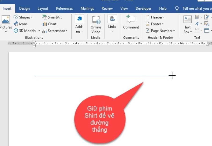Hướng dẫn cách vẽ nét đứt trong Word vô cùng dễ 5