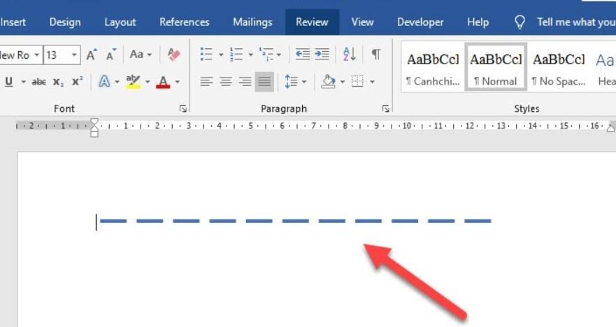 Hướng dẫn cách vẽ nét đứt trong Word vô cùng dễ 9