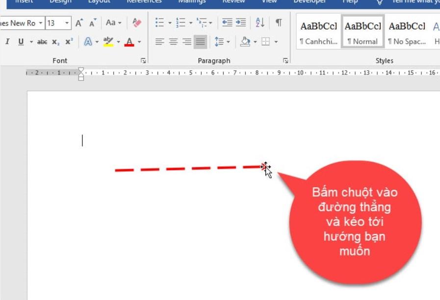 Hướng dẫn cách vẽ nét đứt trong Word vô cùng dễ 12
