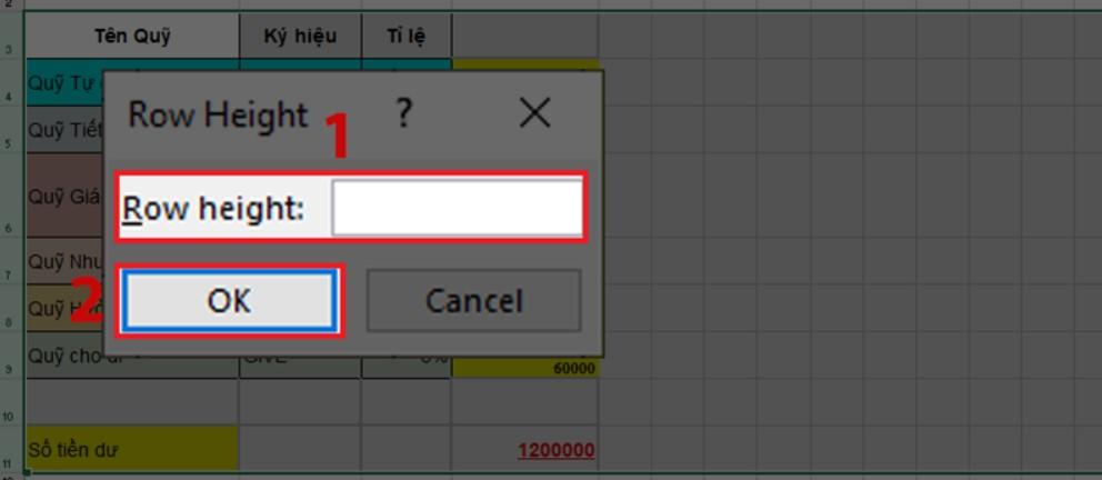 Hướng dẫn cách giãn dòng đều nhau trong Excel nhanh nhất 6
