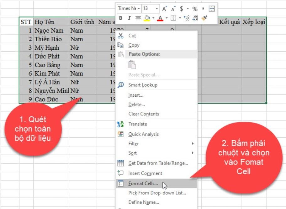 Hướng dẫn cách tạo khung viền trong Excel cực đơn giản 6