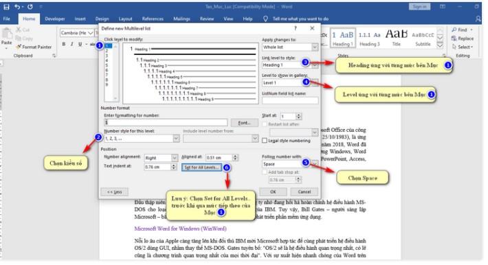 Cách tạo mục lục trong Word chuyên nghiệp với Multilevel List 4