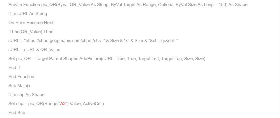 Hướng dẫn cách tạo mã QR code trên Excel bằng VBA 4