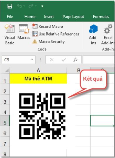 Hướng dẫn cách tạo mã QR code trên Excel bằng VBA 6