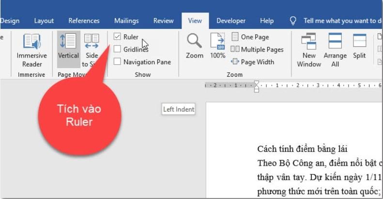 Hướng dẫn cách viết nội dung nằm ngoài lề trang Word 1
