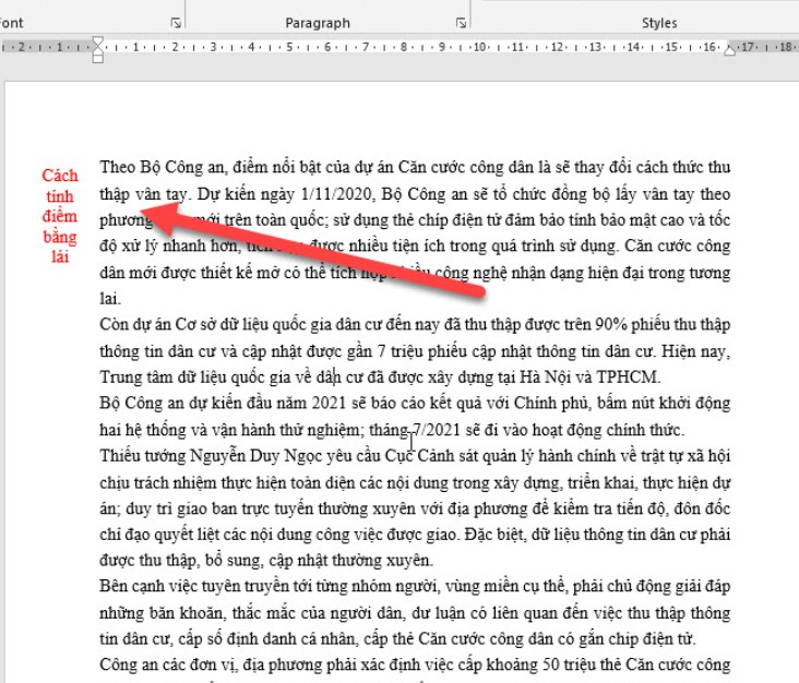 Hướng dẫn cách viết nội dung nằm ngoài lề trang Word 13