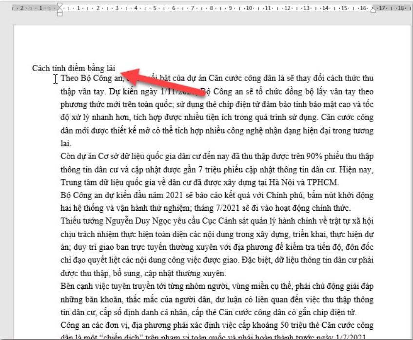 Hướng dẫn cách viết nội dung nằm ngoài lề trang Word 6