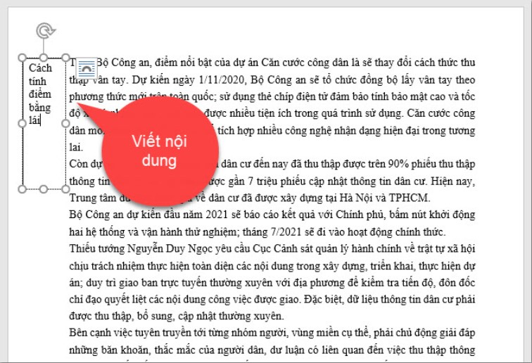 Hướng dẫn cách viết nội dung nằm ngoài lề trang Word 9