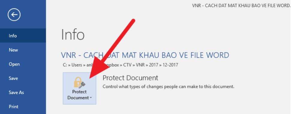 Đặt mật khẩu bảo vệ tài liệu Word, Excel và PowerPoint 2