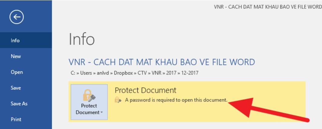 Đặt mật khẩu bảo vệ tài liệu Word, Excel và PowerPoint 6