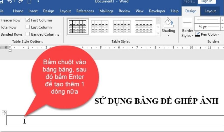 Cách ghép nhiều hình ảnh vào một khung hình trong Word 11