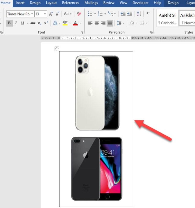 Cách ghép nhiều hình ảnh vào một khung hình trong Word 14