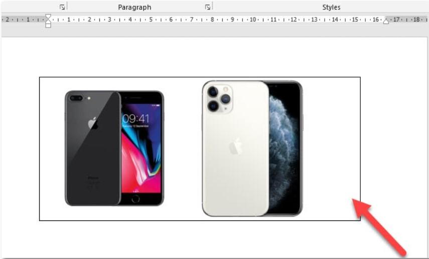 Cách ghép nhiều hình ảnh vào một khung hình trong Word 4