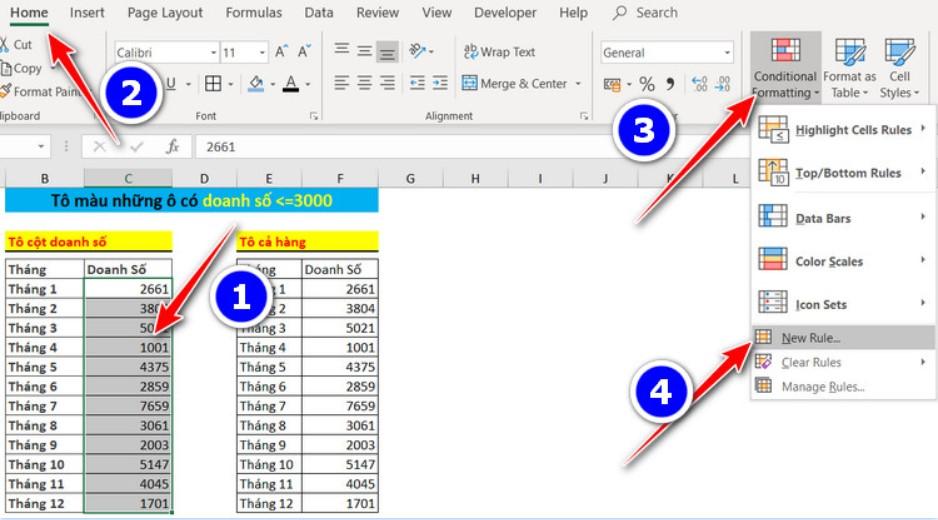 Cách Tô Màu Có Điều Kiện Thông Minh Trong Excel 2