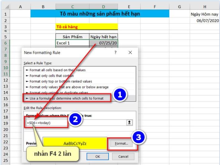 Cách Tô Màu Có Điều Kiện Thông Minh Trong Excel 13