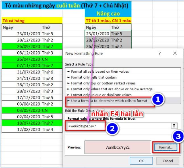 Cách Tô Màu Có Điều Kiện Thông Minh Trong Excel 9