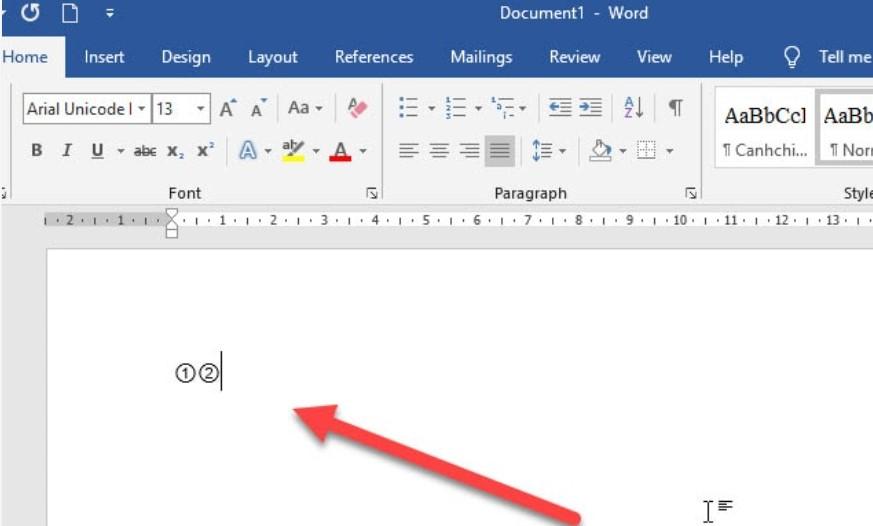 Làm thế nào để khoanh tròn đáp án trong Word, Excel…? 5