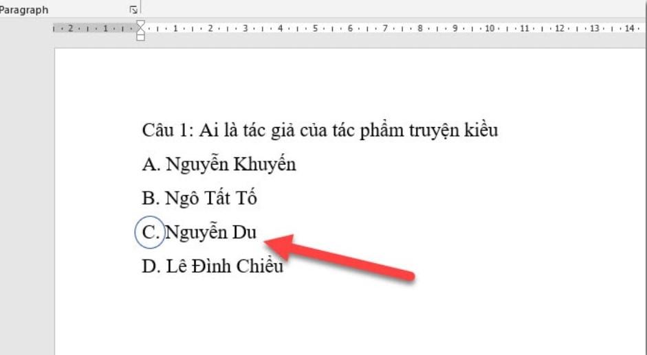 Làm thế nào để khoanh tròn đáp án trong Word, Excel…? 9