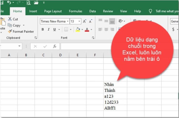 [EXCEL CƠ BẢN] Tìm hiểu về các kiểu dữ liệu trong Excel 2