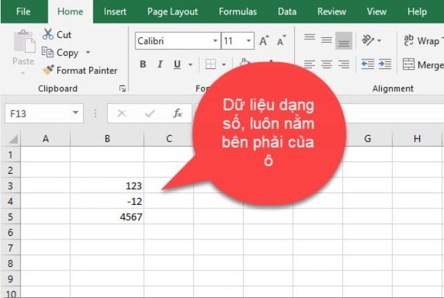 [EXCEL CƠ BẢN] Tìm hiểu về các kiểu dữ liệu trong Excel 3