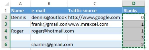 Xóa hàng trống trong Excel, sửa lỗi chữ bị cách quãng trong Excel 12