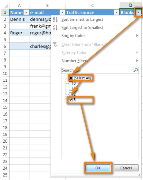 Xóa hàng trống trong Excel, sửa lỗi chữ bị cách quãng trong Excel 14
