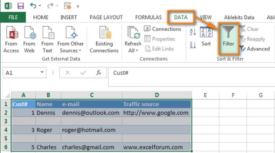 Xóa hàng trống trong Excel, sửa lỗi chữ bị cách quãng trong Excel 5