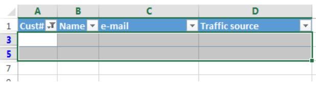 Xóa hàng trống trong Excel, sửa lỗi chữ bị cách quãng trong Excel 7