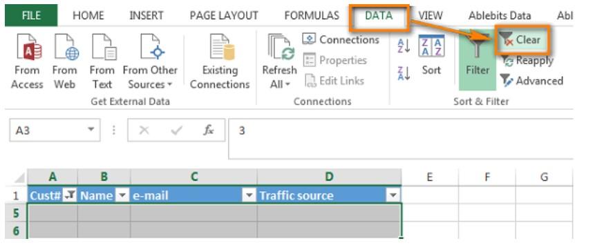 Xóa hàng trống trong Excel, sửa lỗi chữ bị cách quãng trong Excel 9