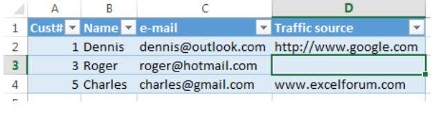 Xóa hàng trống trong Excel, sửa lỗi chữ bị cách quãng trong Excel 10