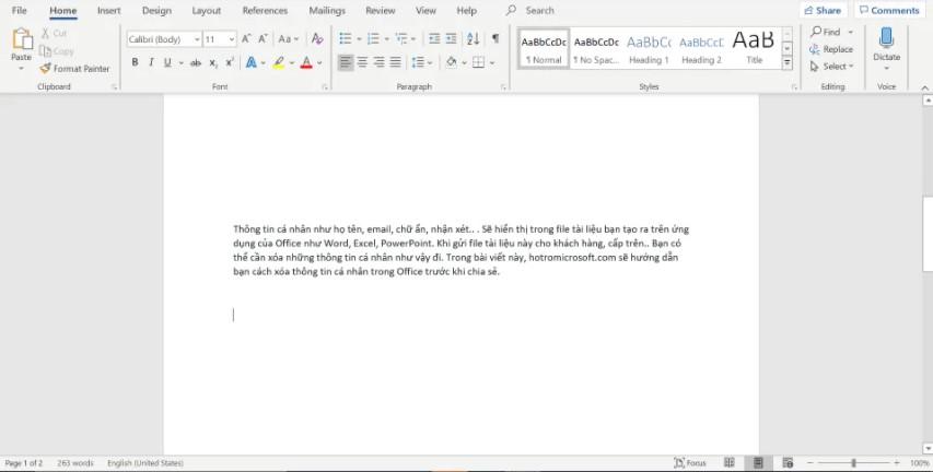Xóa/ ẩn đi tên người dùng trên thanh công cụ của Excel, Word.. 6