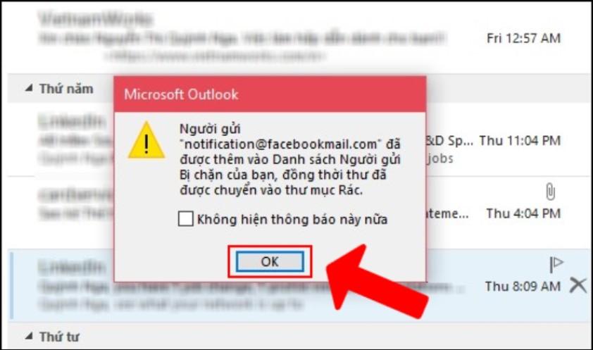 Cách thiết lập chặn thư rác trên Outlook tự động, sạch sẽ 3