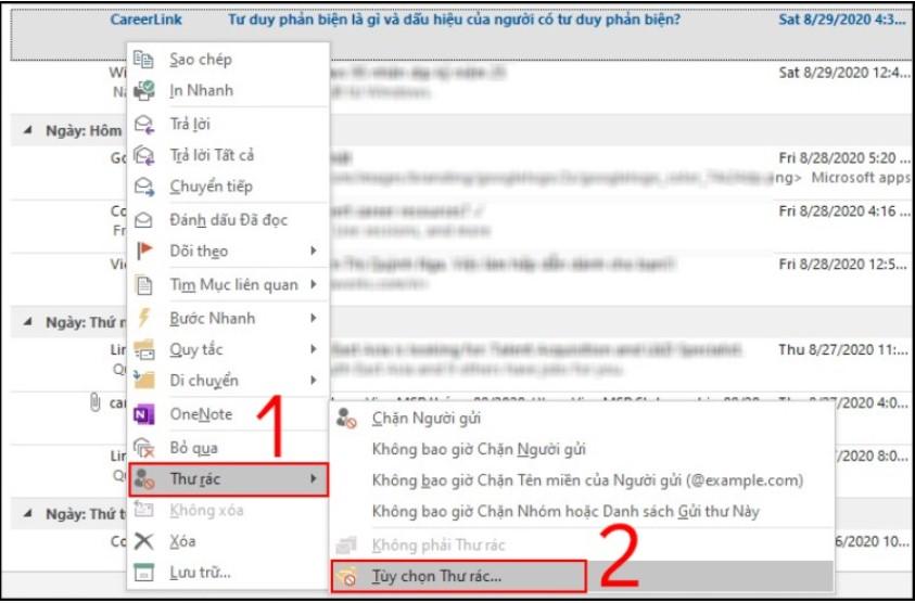 Cách thiết lập chặn thư rác trên Outlook tự động, sạch sẽ 7