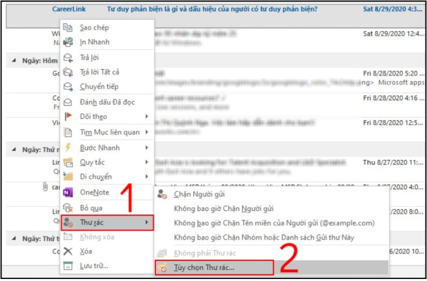 Cách thiết lập chặn thư rác trên Outlook tự động, sạch sẽ 10