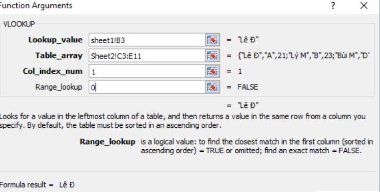 Lọc dữ liệu trùng nhau giữa 2 sheet trong Excel đơn giản nhất 5