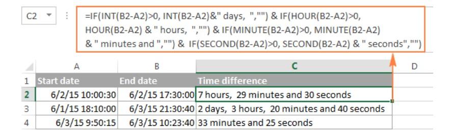 Cách tính chênh lệch thời gian trong excel 13